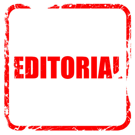 editorial: editorial, red rubber stamp with grunge edges Stock Photo