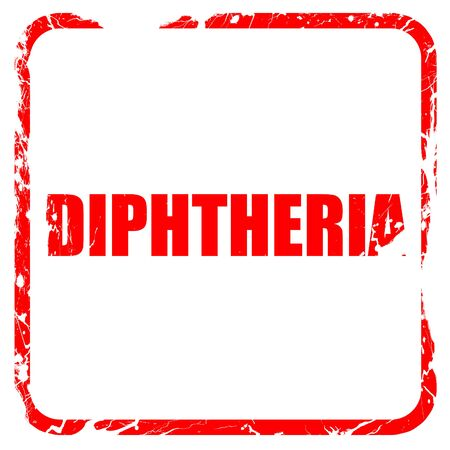 diphtheria: diphtheria, red rubber stamp with grunge edges Stock Photo