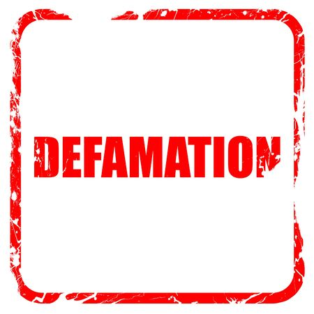 defamation: defamation, red rubber stamp with grunge edges Stock Photo