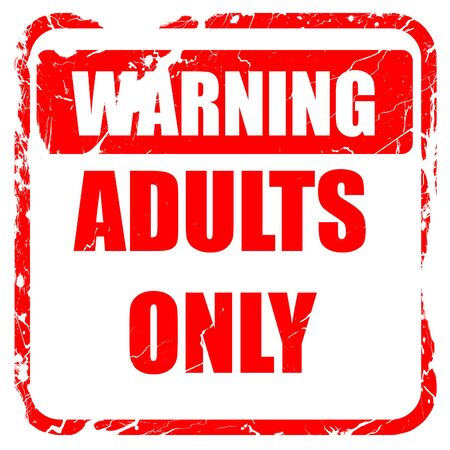 only adults: adults only sign with some vivid colors, red rubber stamp with grunge edges Stock Photo