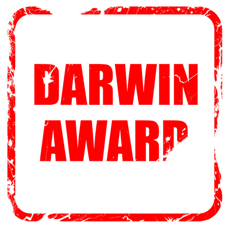 fittest: darwin award, red rubber stamp with grunge edges Stock Photo