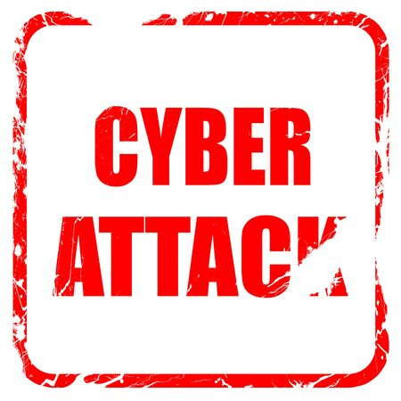 capitalized: Cyber warfare background with some smooth lines, red rubber stamp with grunge edges