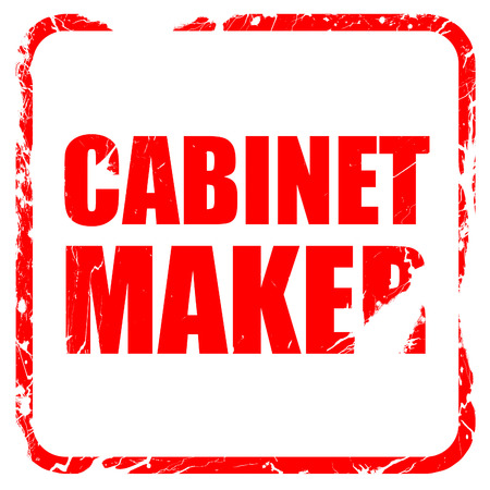 cabinet maker: cabinet maker, red rubber stamp with grunge edges Stock Photo