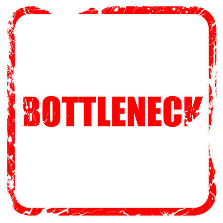 bottleneck, red rubber stamp with grunge edges Stock Photo
