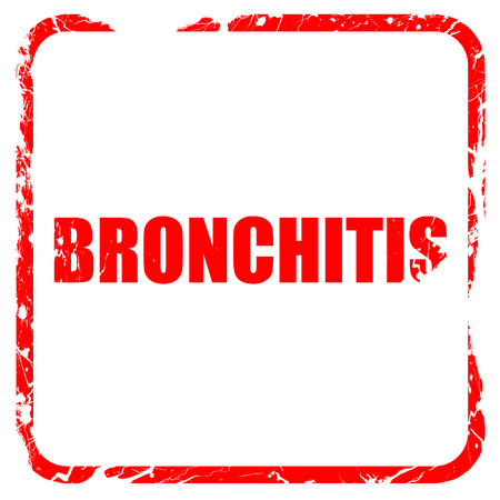 bronchitis: bronchitis, red rubber stamp with grunge edges Stock Photo