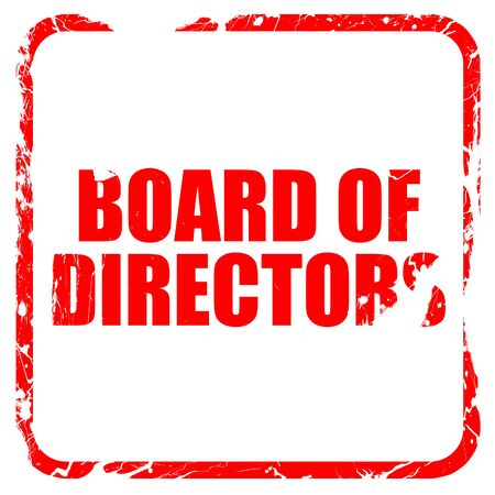 directors cut: board of directors, red rubber stamp with grunge edges Stock Photo