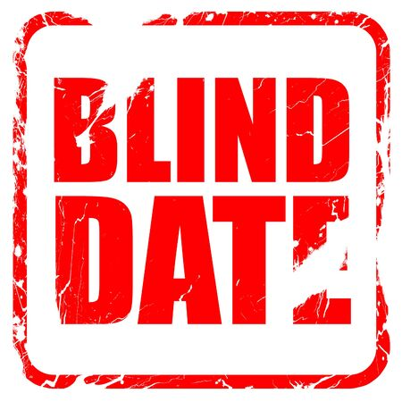 harassing: blind date, red rubber stamp with grunge edges Stock Photo
