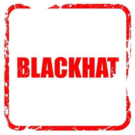 cpl: blackhat, red rubber stamp with grunge edges Stock Photo
