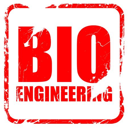 bioengineering: bio engineering, red rubber stamp with grunge edges Stock Photo