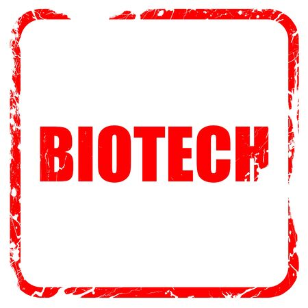 biotech: biotech, red rubber stamp with grunge edges Stock Photo