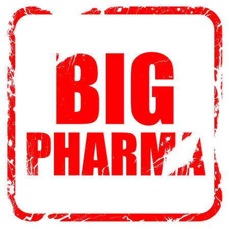 pharma: big pharma, red rubber stamp with grunge edges Stock Photo