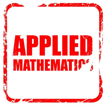 applied: applied mathematics, red rubber stamp with grunge edges Stock Photo