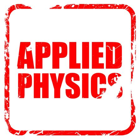 applied: applied physics, red rubber stamp with grunge edges
