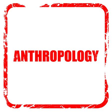 anthropology: anthropology, red rubber stamp with grunge edges Stock Photo