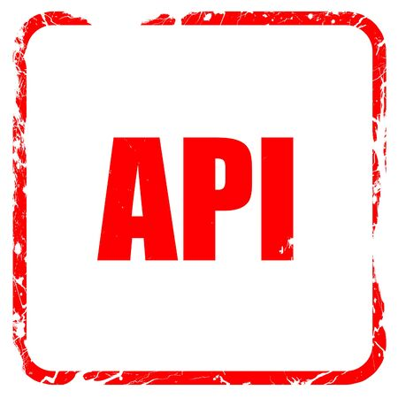 api: api, red rubber stamp with grunge edges Stock Photo
