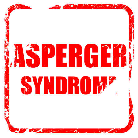 asperger syndrome: Asperger syndrome background with some soft smooth lines, red rubber stamp with grunge edges