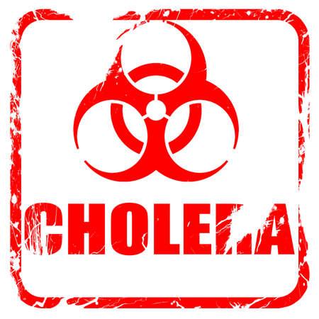 colera: El cólera concepto de fondo con unas líneas suaves suaves, sello de goma de color rojo con bordes grunge Foto de archivo
