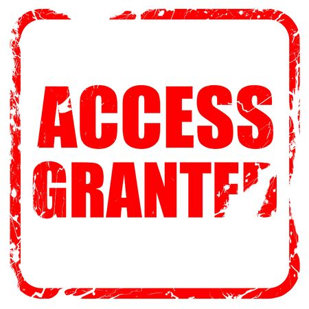 access granted: access granted, red rubber stamp with grunge edges Stock Photo