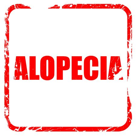 alopecia, red rubber stamp with grunge edges Stock Photo
