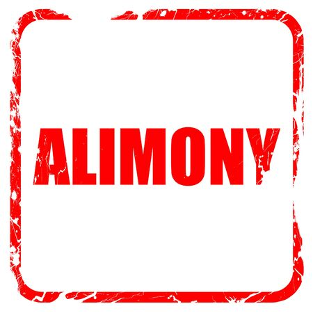 alimony: alimony, red rubber stamp with grunge edges
