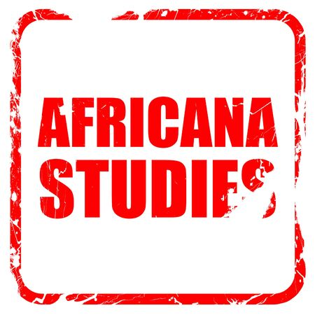 africana: africana studies, red rubber stamp with grunge edges