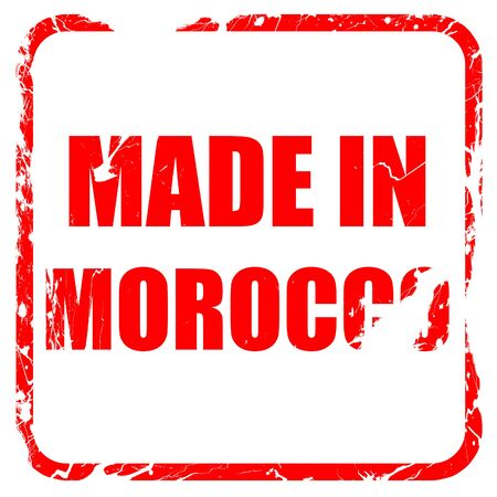 made in morocco: Made in morocco with some soft smooth lines, red rubber stamp with grunge edges