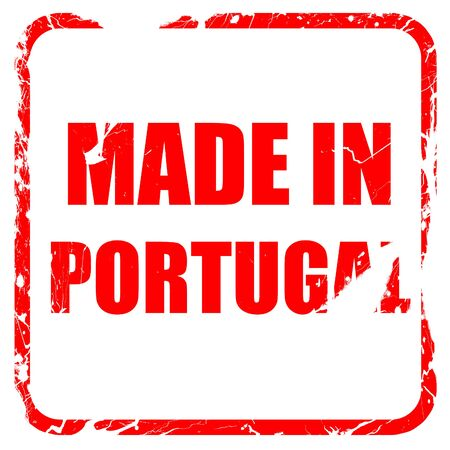 made in portugal: Made in portugal with some soft smooth lines, red rubber stamp with grunge edges