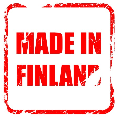 made in finland: Made in finland with some soft smooth lines, red rubber stamp with grunge edges