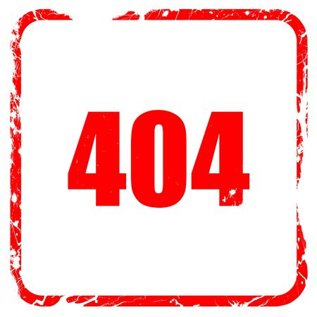 power failure: 404 page, red rubber stamp with grunge edges