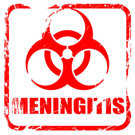 meningitis: meningitis virus concept background with some soft smooth lines, red rubber stamp with grunge edges Stock Photo