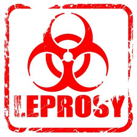 lepra: Concepto del fondo de la lepra con unas l�neas suaves suaves, sello de goma de color rojo con bordes grunge
