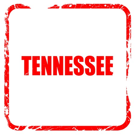tennesse: tennessee, red rubber stamp with grunge edges
