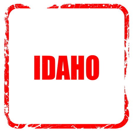 idaho: idaho, red rubber stamp with grunge edges