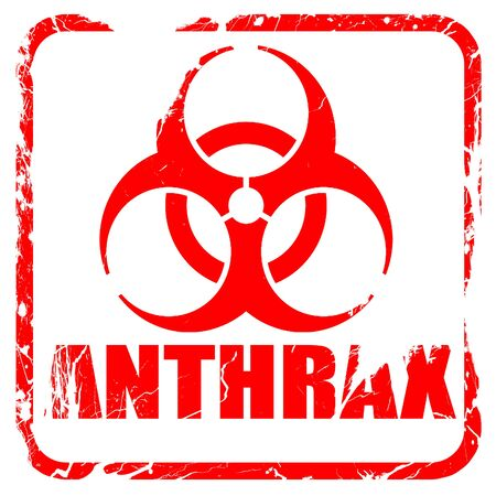 anthrax: Anthrax virus concept background with some soft smooth lines, red rubber stamp with grunge edges
