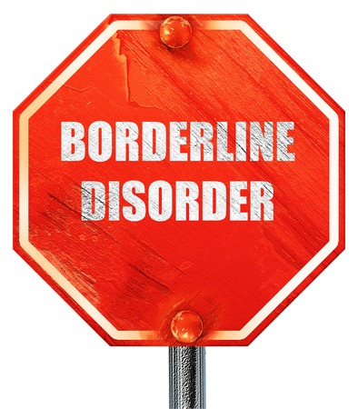 borderline: Borderline sign background with some soft smooth lines, 3D rendering, a red stop sign