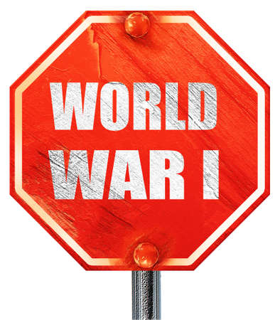 world war 1: World war 1 background with some smooth lines, 3D rendering, a red stop sign