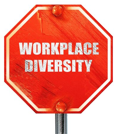 competitividad: diversidad en el trabajo, 3D, una se�al de stop roja