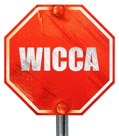 wicca: wicca, 3D rendering, a red stop sign