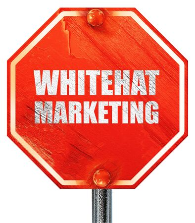 spamdexing: whitehat marketing, 3D rendering, a red stop sign