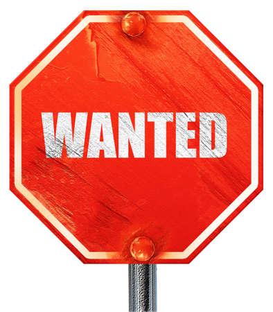 gunshot: wanted, 3D rendering, a red stop sign