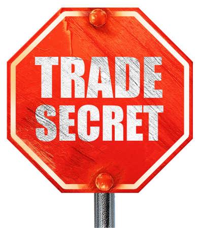 trade secret: trade secret, 3D rendering, a red stop sign