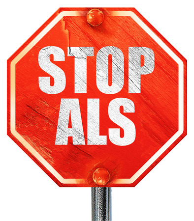 als: stop als, 3D rendering, a red stop sign Stock Photo