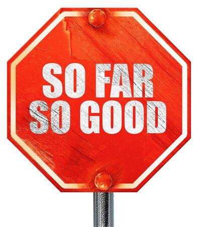 lejos: hasta ahora tan bueno, 3D, una se�al de stop roja