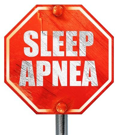 seep: sleep apnea, 3D rendering, a red stop sign