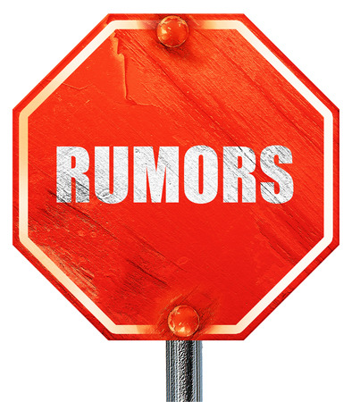 rumors: rumors, 3D rendering, a red stop sign Stock Photo