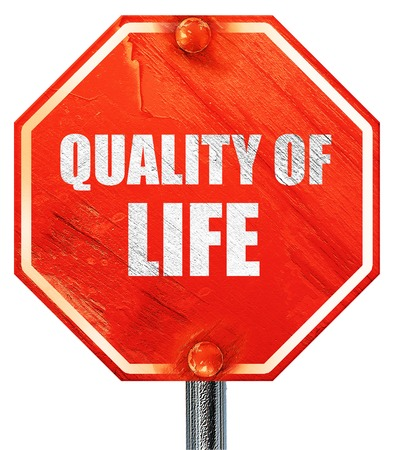 everyday jobs: quality of life, 3D rendering, a red stop sign