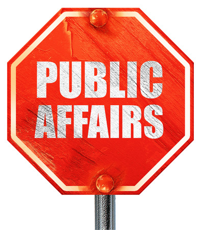 affairs: public affairs, 3D rendering, a red stop sign