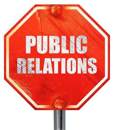 relaciones publicas: relaciones p�blicas, representaci�n 3D, una se�al de stop roja