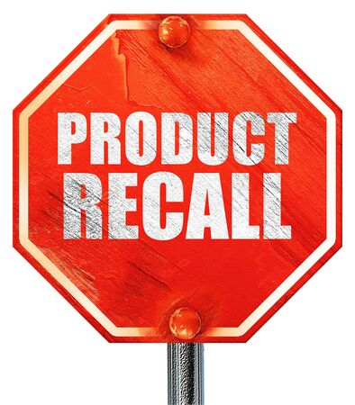 recall: product recall, 3D rendering, a red stop sign Stock Photo