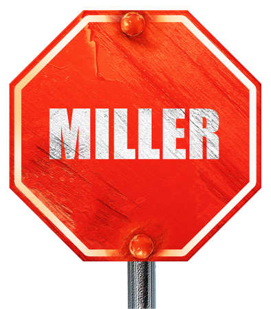 miller: miller, 3D rendering, a red stop sign
